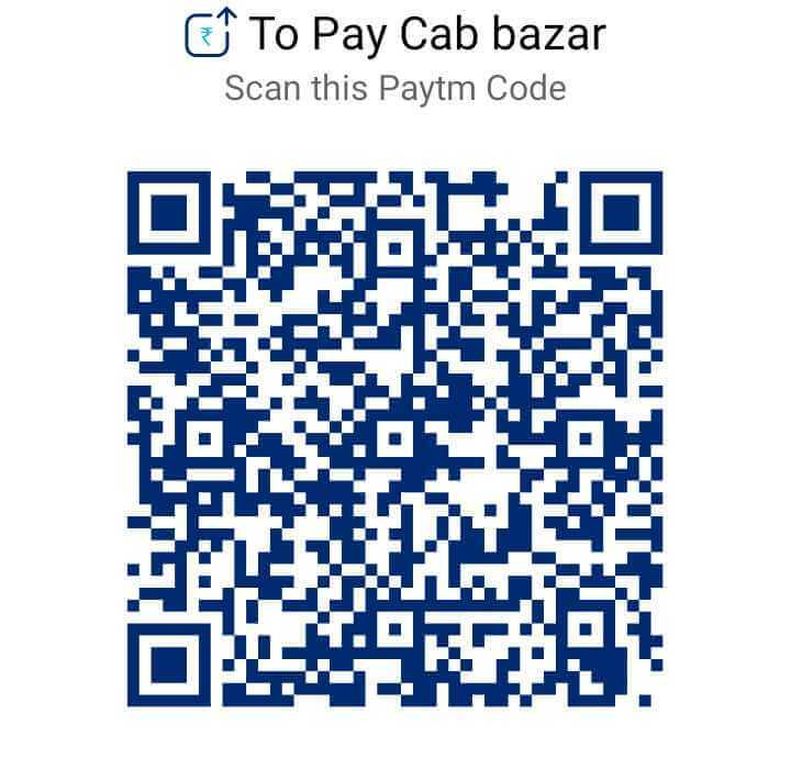 Pay CabBazar via PayTm